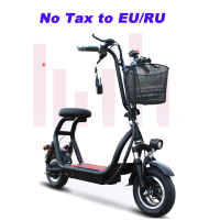 10 Inch Electric Bike Mini Two Round Folding Bike Lithium Battery Bicycle Adult Pedal Scooter Convenient