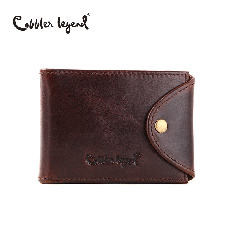 Cobbler Legend Genuine Leather Business Credit Card Holder ID Card Case Holder Wallet For Credit Cards For Men Cardholder Purse men plaid pu leather wallet light bifold fashion designer credit cards holder clutch id card organizer brand purse for men phd08