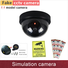 New 1:1 model Fake camera simulation security cctv cameras dummy cam with flash blinking warning LED ABS plastic dome GANVIS S01