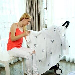 Image 5 - Муслиновая ткань 120*120 см, 3 шт./комплект, пеленки для новорожденных из 100% хлопка, детские одеяла, многофункциональное детское полотенце, пеленки