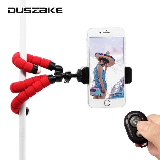 DUSZAKE P16 Flexible Gorillapod Tripod For Phone Bluetooth Mini Tripod for iPhone Phone Tripod with Holder Remote Contral