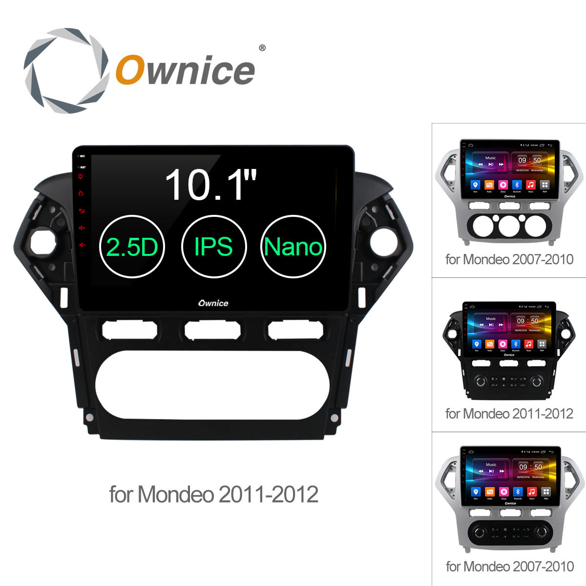 Ownice C500+ Android6.0 32G+2GB Car DVD Player GPS Navigation Radio 2.5D IPS For Ford Mondeo 2007 - 2012 Support 4G SIM DAB+ DVR ...