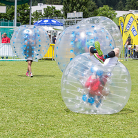 Wholesale Inflatable 100%TPU Material 1.5m Bubble Soccer Ball Inflatable Bumper Ball Zorb Ball Bubble Football
