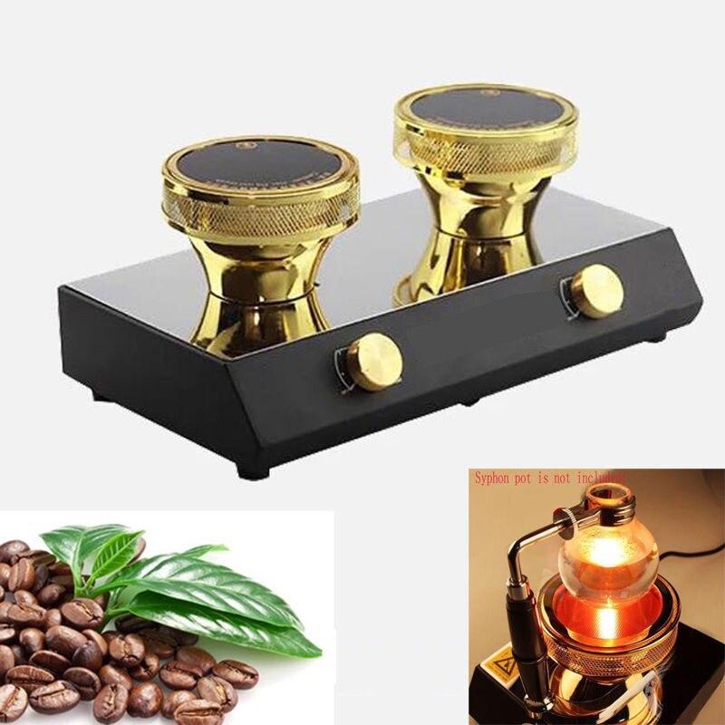 Haute qualité 3 têtes halogène faisceau chauffage brûleur infrarouge chaleur pour Hario Yama Syphon cafetière 400 W 220 V