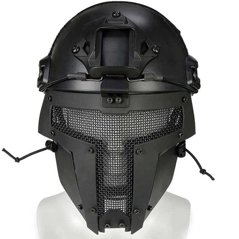 Tactical Wire Steel Full Face Mesh Mask Outdoor Sport Protective Helmet Fencing Hunting Iron Samurai Mask