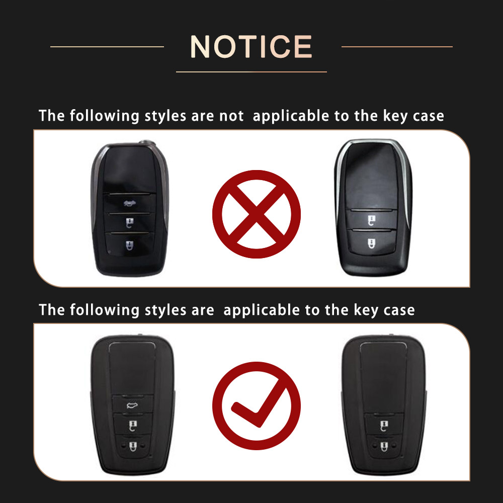 Image 4 - Zinc alloy+Leather Car Remote Key Cover Case For Toyota CHR C HR Prado 2016 2018 Prius Camry Corolla RAV4 2018 Accessories-in Key Case for Car from Automobiles & Motorcycles