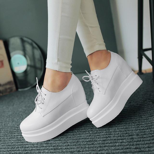 Zapatos de plataforma de las mujeres zapatos de las cuñas de zapatos de tacón alto femeninos sy-1969