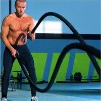 38 мм прочный фитнес-тренировочный канат Tug-Of-War гимнастическая веревка физический тренировочные канаты MMA принадлежности для фитнеса