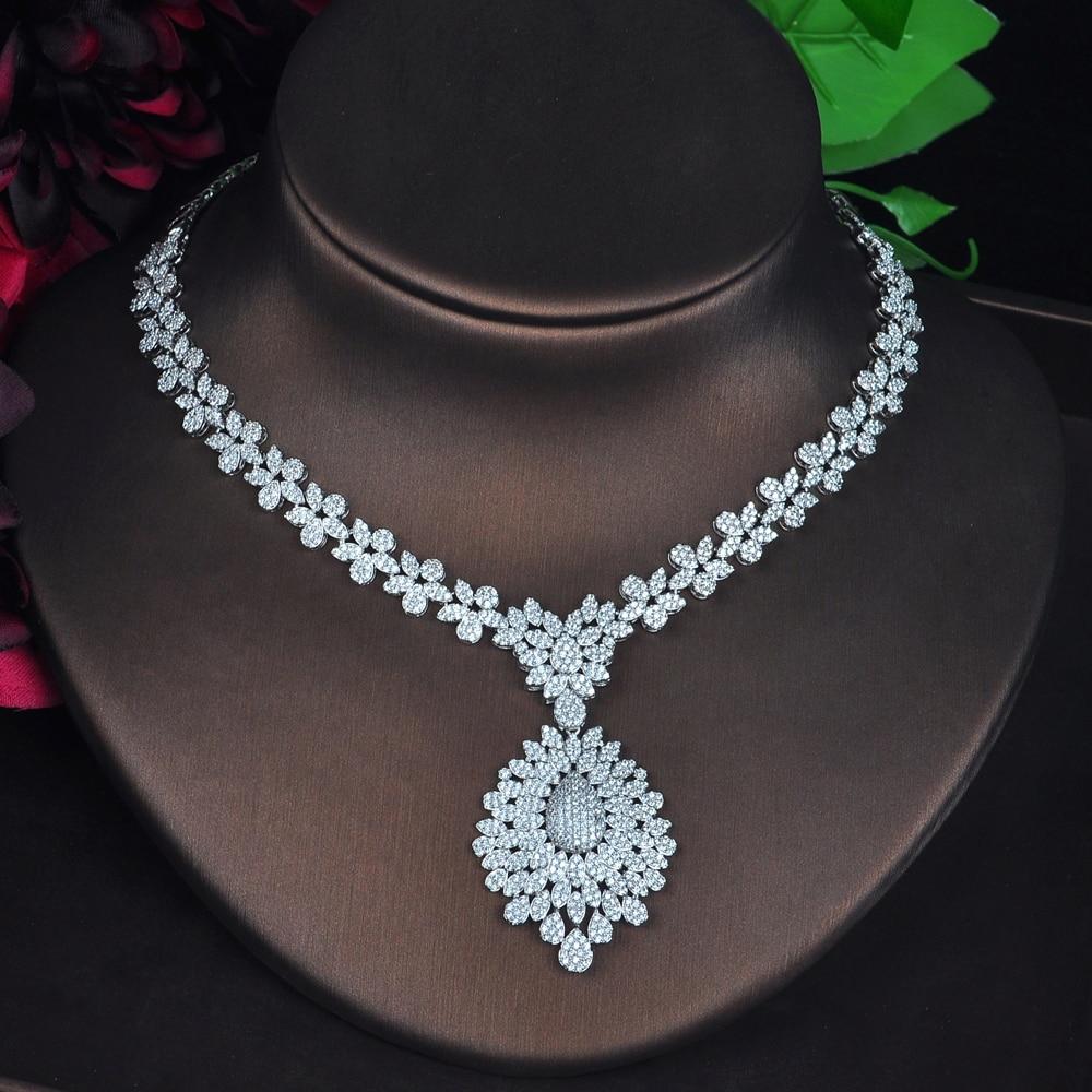 HIBRIDE nuevo conjunto de joyas grandes de Zirconia cúbica completa para mujeres accesorios de Boda nupcial parure bijoux femme N 706-in Conjuntos de joyería from Joyería y accesorios    3
