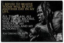 KAI GREENE ON ESPN-Bodybuilding Motivational Quote Art Wall Decor Silk Print Poster