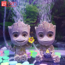 SMARTPET Environmental Resin Fish Tank Air Pumps Ornament Cute Tree Man Shape Aquarium Compressor Oxygen Pump Toys