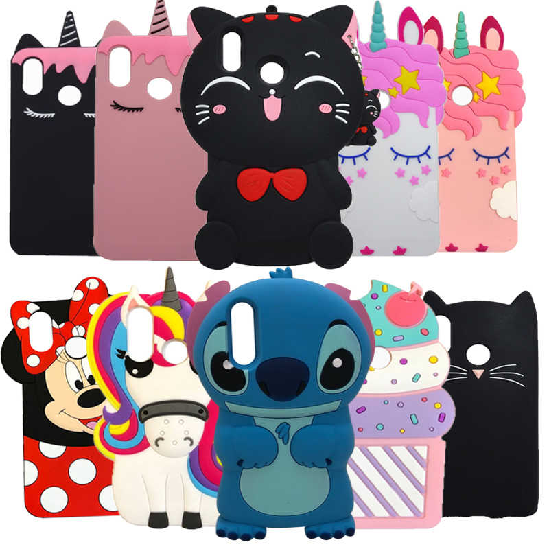 3D Cute Cartoon Minnie Cat Cupcake Cases For Huawei P20 Lite Silicone Case For Huawei P20 Pro P 20 Cover Rubber nova 3e Coque
