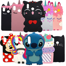 3D Cute Cartoon Minnie Cat Cupcake Cases For Huawei P20 Lite Silicone Case For Huawei P20 Pro P 20 Cover Rubber nova 3e Coque(China)