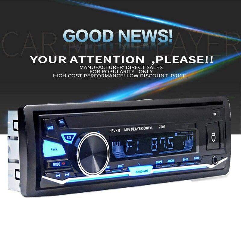 Новое поступление стерео аудио плеер Bluetooth 1 Din автомобильный mp3 плеер радио 7003 12 В Кассетный рекордер в тире Авто магнитола