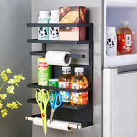 Luggage Carrier Refrigerator side hangers Wall Hanging Shelf Kitchen Fresh keeping Film Storage Rack Magnetic Suction Hangers