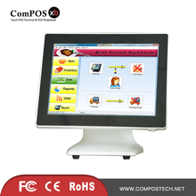 лучшая цена Low Price POS All In One System 15 Inch White Capacitive Touch Screen Cash Register For Restaurant