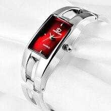 2017 nueva marca de moda femenina reloj de pulsera de reloj resistente al agua Reloj de Lujo de Mujer simple reloj niñas La Moda del reloj