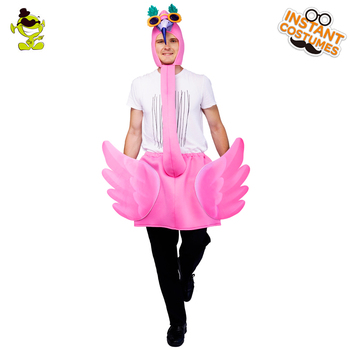 New Style Pink Flamingo Costumes Fancy Dress Funny Flamingo Costumes Cosplay Unisex Adult Wings Flamingo Christmas Prty фото