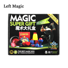 Magic Trick Set kit 50 Kinds Magic Play with DVD Teaching Professional Magie Prop Gimick Card children magic gift Puzzle Toy цена 2017