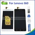 Original testado para lenovo s60 s60a display lcd tela painel de toque peças de reposição assembléia s60w s60-t s60-a telefone + ferramentas