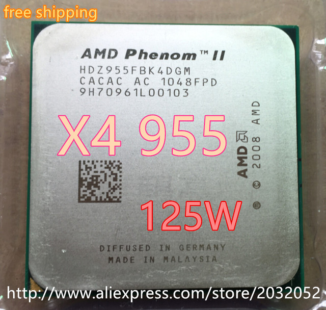 AMD Phenom II X4 955 3.2Ghz L3=6MB Quad-Core Processor Socket AM3/938-pin  x4 955
