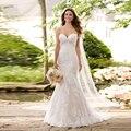 Romantic Sweetheart Mermaid Wedding Dresses Bridal Dress Sexy Lace Long Party Dress Plus Size For Fat 2017 Vestido de noiva long