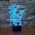 Pterosauria Dragão Presentes Da Novidade 7 Cores Mudando Animais Noite Luzes Led 3D LED Desk Lamp Table Lamp como Decoração de Casa