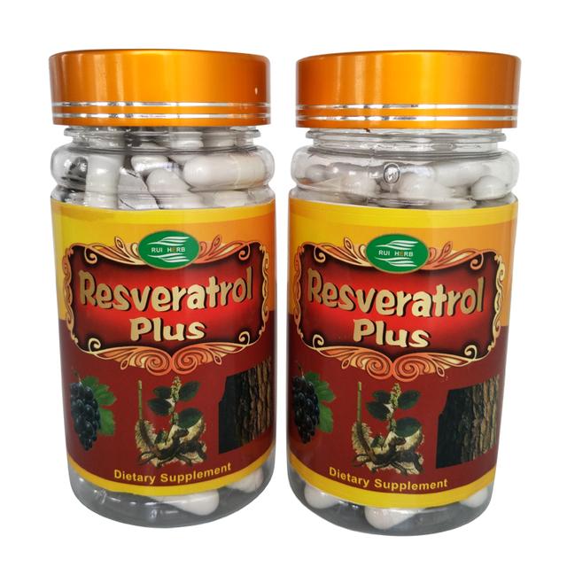 2 Garrafas de Resveratrol + Extrato de Semente de Uva + Casca de Pinheiro Extrato Da Cápsula 450 mg x 180 Contagens frete grátis