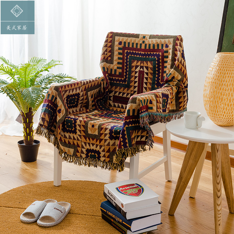 American Lattice Blanket Sofa Decorative Slipcover Throws on Sofa/Bed/Plane Travel Plaids Rectangular Color Stitching Blankets  american lattice blanket sofa decorative slipcover throws on sofa bed plane travel plaids rectangular color stitching blankets