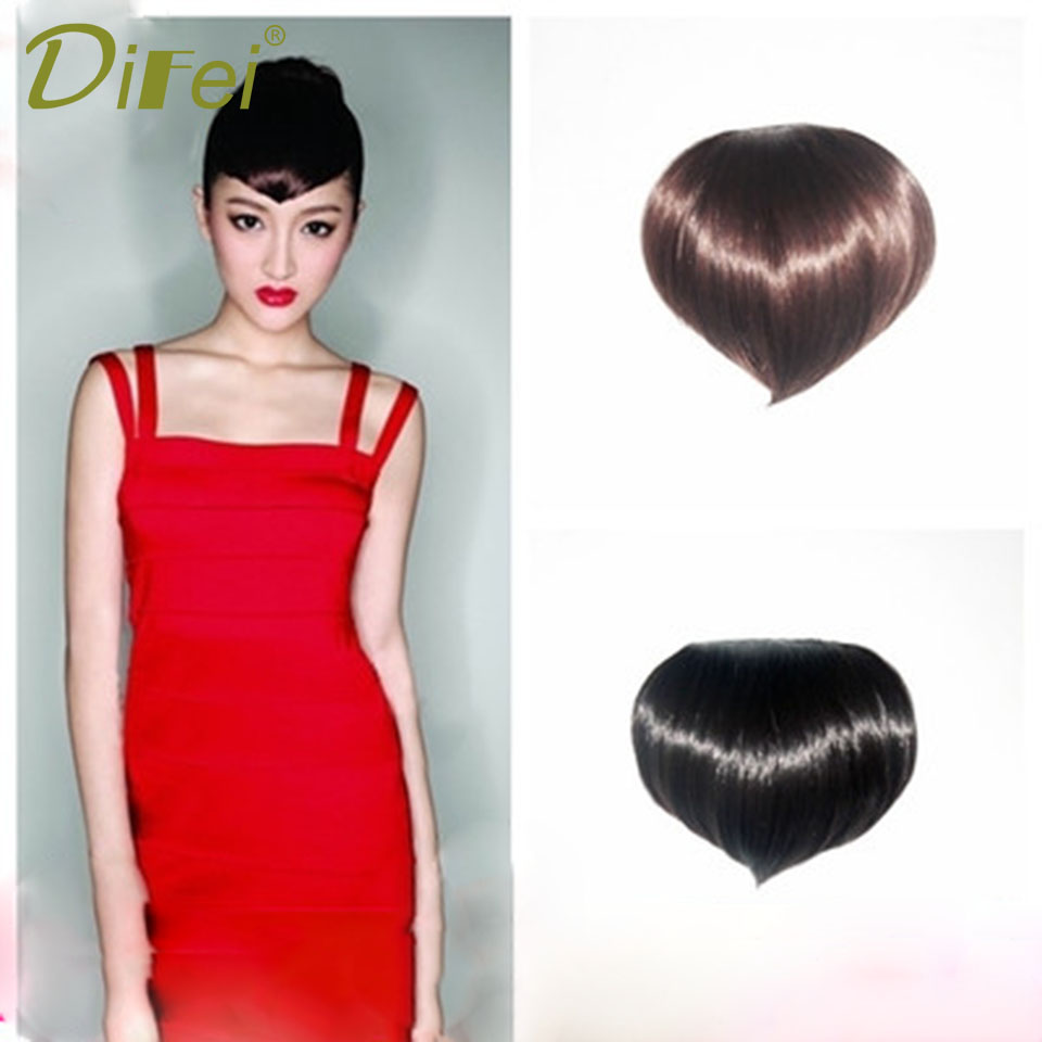 DIFEI Peach Heart Bangs 3 Colors High Temperature Chemical Fiber Lady Bangs Extended Clip Seamless Natural Bangs