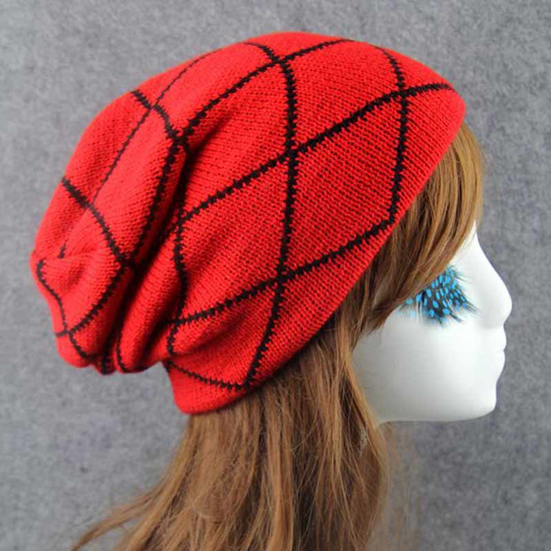 1pcs Winter Casual Cotton Knit Hats For Women Men Baggy Beanie Hat Crochet Cap Warm Skullies Toucas Gorro Feminino Bonnet Homme winter casual cotton knit hats for women men baggy beanie hat crochet slouchy oversized hot cap warm skullies toucas gorros y107