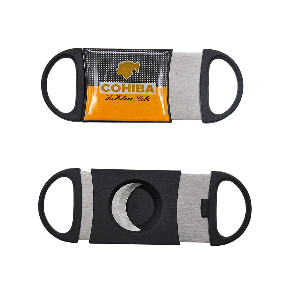 FOCUS Cohiba Plastic Guillotine Double Blade Cigar Cutter 55 Ring Stainless Steel Cuban Cigar Cutters Knife Scissor Clippers