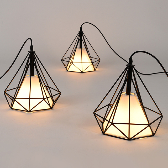 Vintage Industrial Pendant Lights Modern Retro Cage Lamps E27 Pendant Wrought  Iron Lamp Dining Room Bar