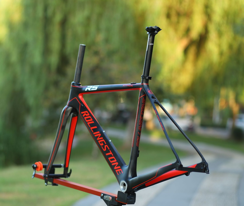 Rolling Stone Attack Carbon 700c Road <font><b>Bicycle</b></font> aero <font><b>Frame</b></font> Fork <font><b>Set</b></font> UCI approved 46cm 49cm 52cm RED image
