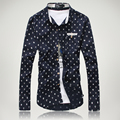 2016 Newest Style High Quality Men'S Shirt Brand Dress Shirt Long Sleeve Camisas Casual Shirts Mens Polka Dot Shirts