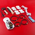 Adult Electric Shock Kit Penis Extender Cock Ring+Urethral Plug+Clitoris Massage Stimulate Patch+ Vagina Anal Plug SEX PRODUCT