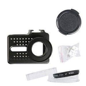 Image 5 - Cho Xiaomi Yi 4 k Phụ Kiện Nhôm Hợp Kim Kim Loại Nhà Ở Khung Trường Hợp Bảo Vệ + UV filter cho Xiao Yi 4 k action máy ảnh