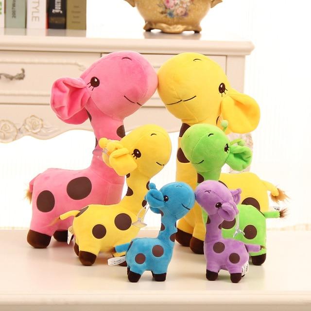 Kawaii Plush Giraffe Toys Soft Stuffed Animal Deer Dolls Christmas Birthday Gifts for Children Wedding Supplies Wholesale 25 cm