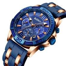 BIDEN Mens Sports Top Brand Luxury Quartz Men Watch Wrist Watches Fitness Silicone Band Waterproof Relojios Masculinos