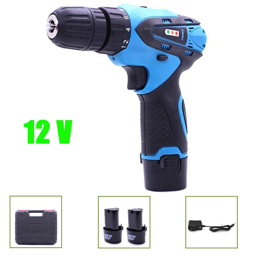 все цены на VOTO 2*Battery Rechargeable Cordless Drill Electric Screwdriver Set Lithium Power Tools Screw Gun Driver 12V With Case Blue 2018 онлайн