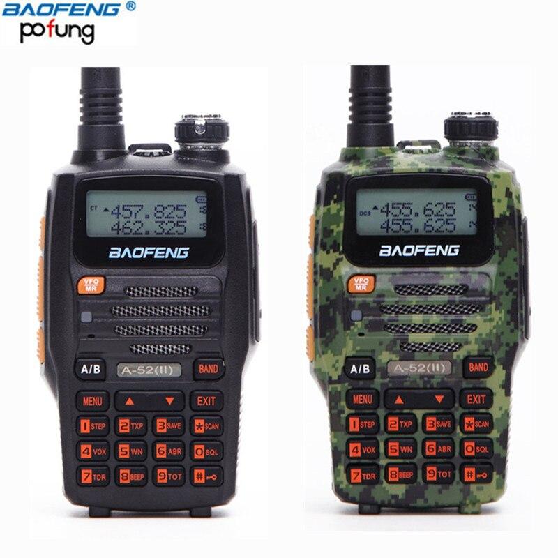bilder für Baofeng A-52 (II) 8 watt GT Transceiver (Upgrade-Version von A-52) Walkie Talkie 65-108/136-174/400-520 MHz Dual-Band Zwei-Fm-zwei-wege-funkamateure