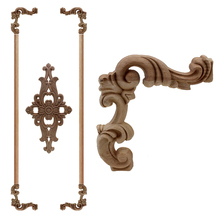 VZLX cama de madera tallada en madera fondo de flores armario de pared puerta Vintage decoración del hogar accesorios de decoración apliques de madera Central