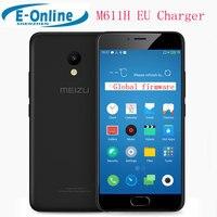 Original Meizu M5 International Version M611H 4G LTE Mobile Phone MT6750 Octa Core 2GB RAM 16GB ROM EU Version Black Phone