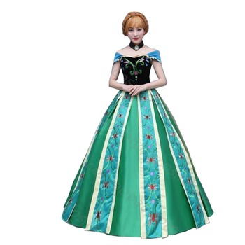 2017 Custom Made Anna Coronation Dress Princess Anna Costumes Outfit Anna Cosplay Dress customized фото