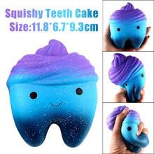 Фотография Squishy Jumbo Cartoon Teeth Gags Practical Jokes Toys Squish Antistress Slow Rising Squeeze Squishies Toy 20S71219 drop shipping