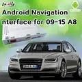 Interface vidéo de boîte de Navigation de GPS d'android 6.0 pour AUDI A8 avec le téléphone intelligent Mirrorlink, Applications