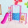 4pcs In 1 set Amusement Devices For Barbie  1/6 Doll's Kindergarten Accessories