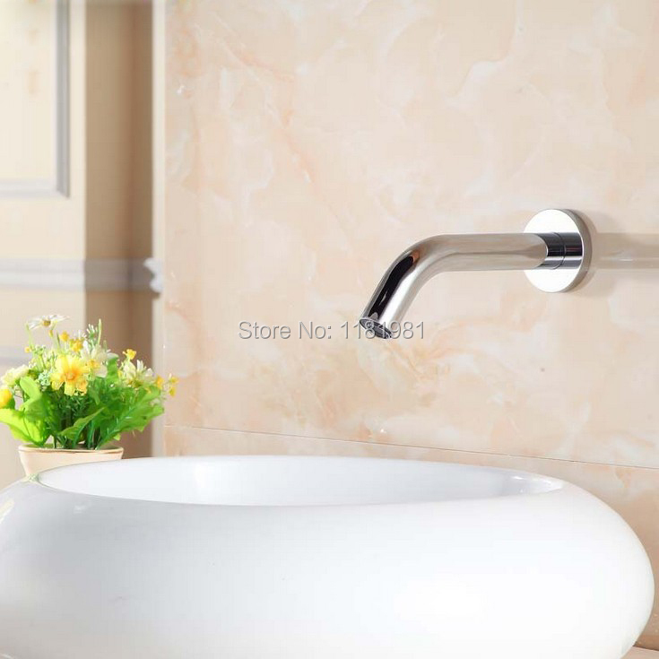 New wall mount automatic sensor faucet basin tap auto water spout smart faucet medical tap XR8856 china sanitary ware chrome wall mount thermostatic water tap water saver thermostatic shower faucet
