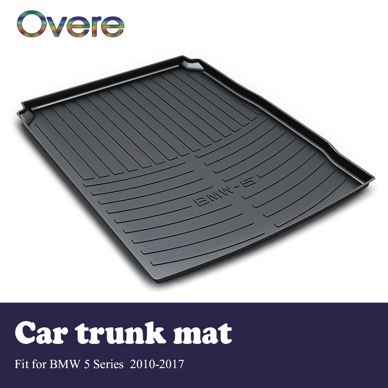 Overe 1Set Car Cargo rear trunk mat For BMW 5 Series F10 F11 F07 2010-2017 Boot Liner Anti Slip and Waterproof Mat Accessories цена