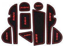 Freeshipping Toyota RAV4 gate groove pad RAV4 interior storage box pad dust slip cup pad shockproof pad